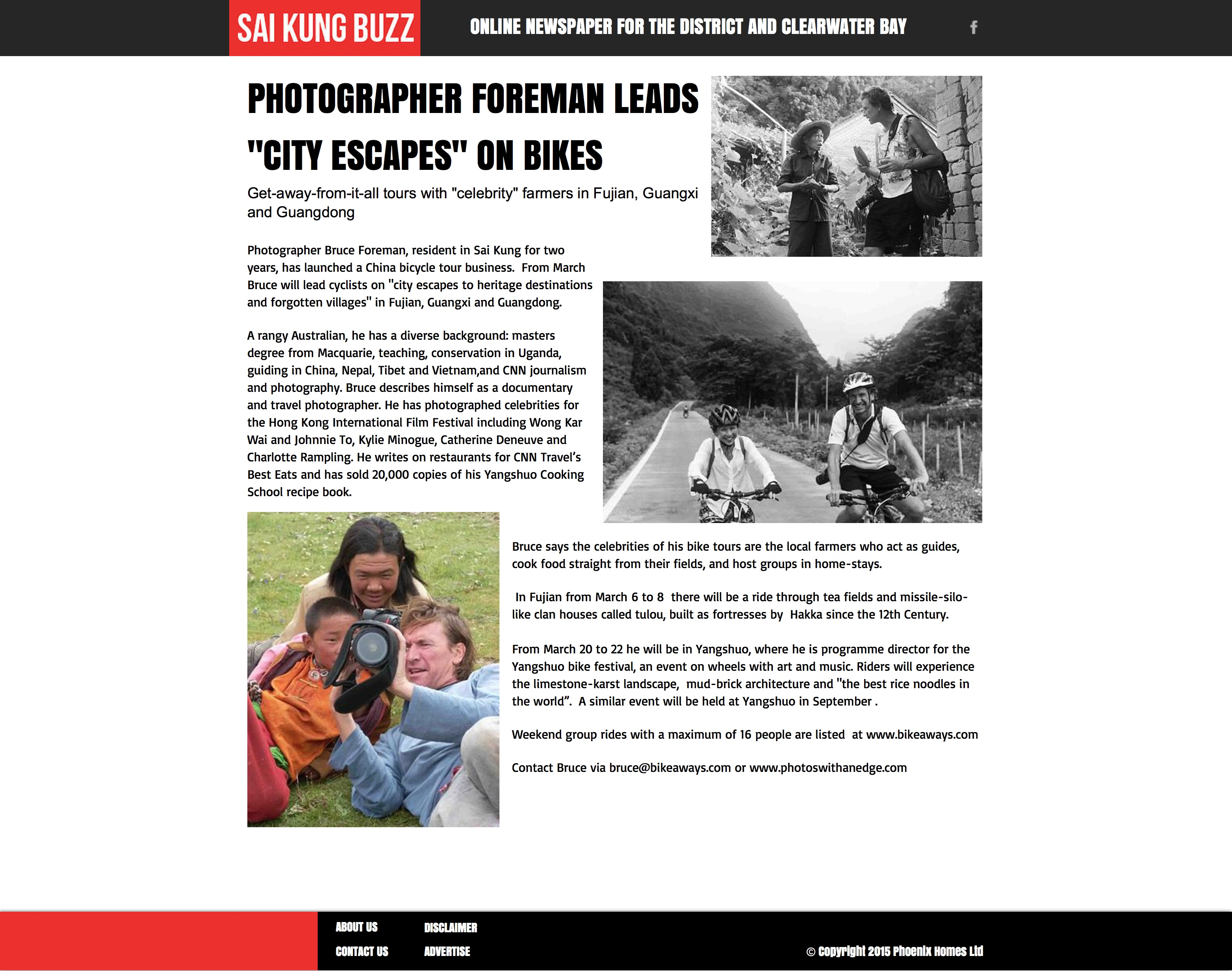 Sai Kung Buzz | Photographer Foreman leads 'City Escapes' on bikes