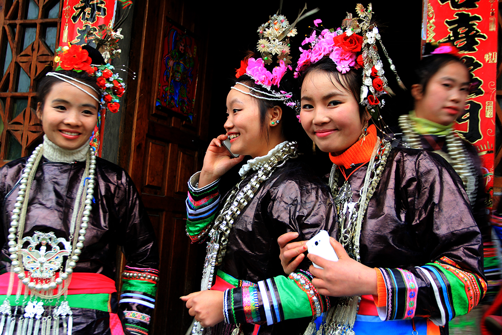 School girls have special holiday for special festival in their village